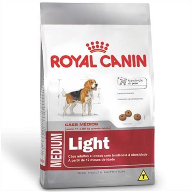 ração royal canin medium light para cães adultos ou idosos obesos de raças médias - 3 kg