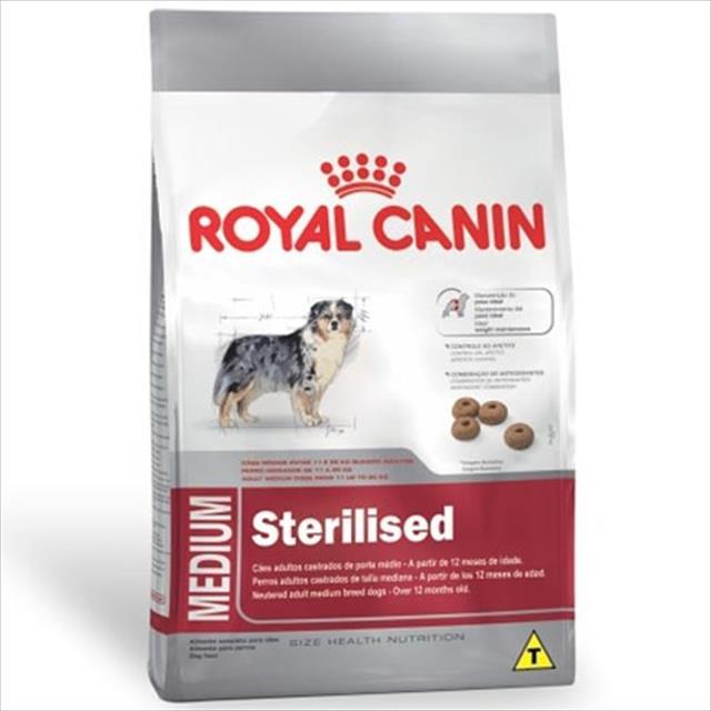 ração royal canin medium sterilised para cães adultos de raças médias com 12 meses ou mais de idade ração royal canin medium sterilised para cães adultos de raças médias a partir de 12 meses - 2 kg