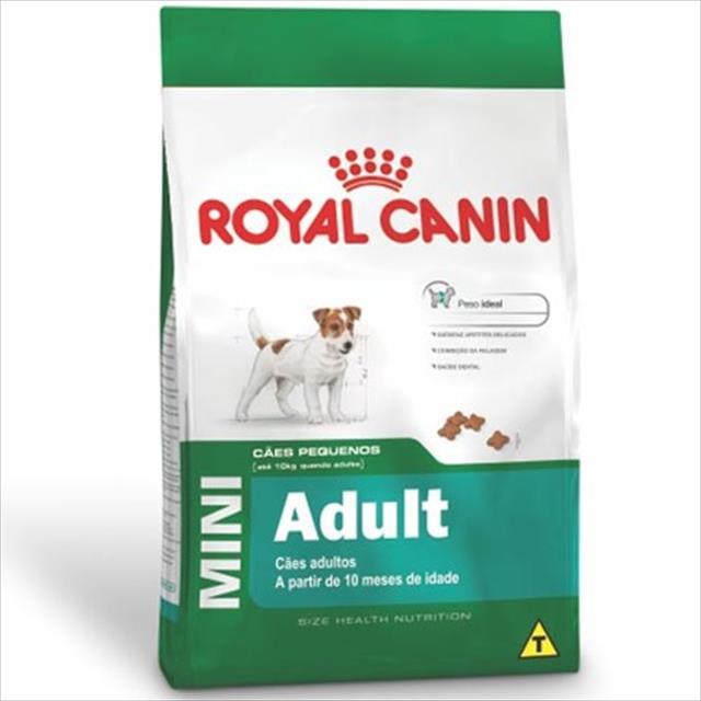 ração royal canin mini adult para cães adultos de raças pequenas com 10 meses ou mais de idade ração royal canin mini adult para cães adultos de raças pequenas com 10 meses ou mais - 3 kg