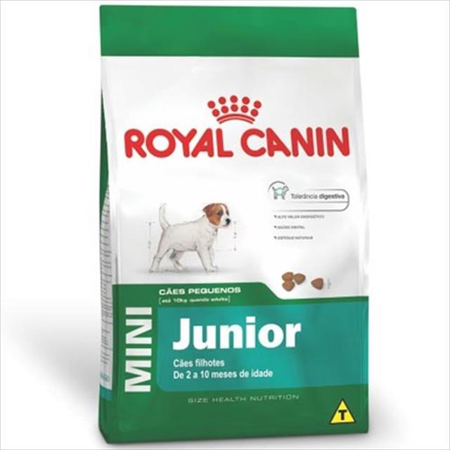 ração royal canin mini junior para cães filhotes de raças pequenas de 2 a 10 meses de idade ração royal canin mini junior para cães de raças pequenas filhotes de 2 a 10 meses de idade - 7,5 kg