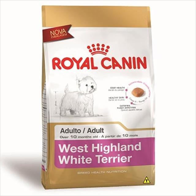 ração royal canin para cães adultos da raça west highland white terrier - 3 kg