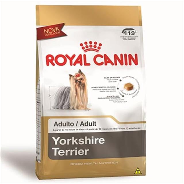 ração royal canin para cães adultos da raça yorkshire - 3 kg