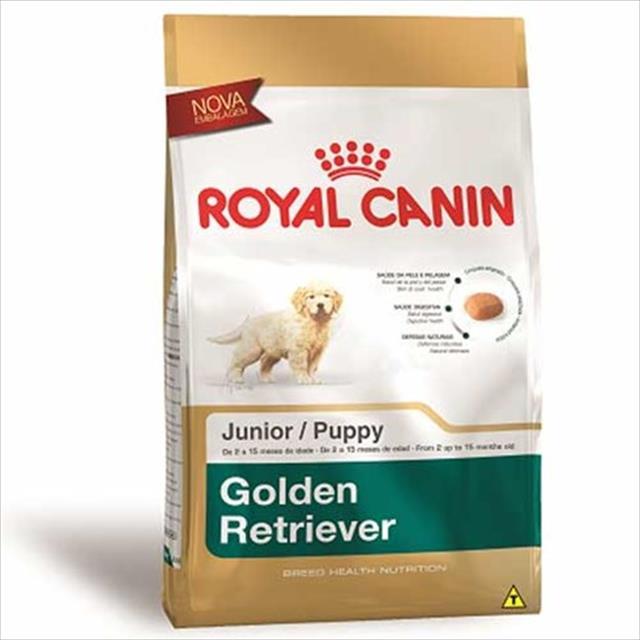 ração royal canin para cães filhotes da raça golden retriever - 12 kg
