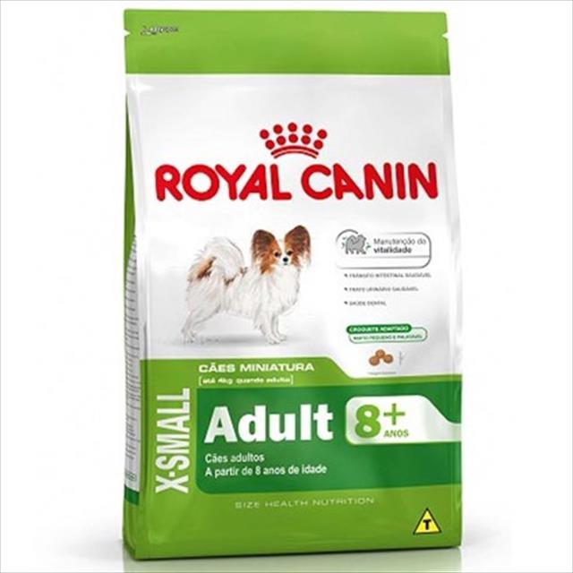 ração royal canin x-small adulto 8+ para cães adultos e idosos de porte miniatura - 3 kg