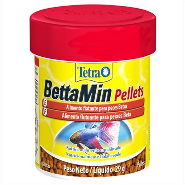 ração tetra bettamin pellets em bolinhas - 29gr