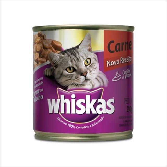 ração whiskas lata carne ao molho - 290gr