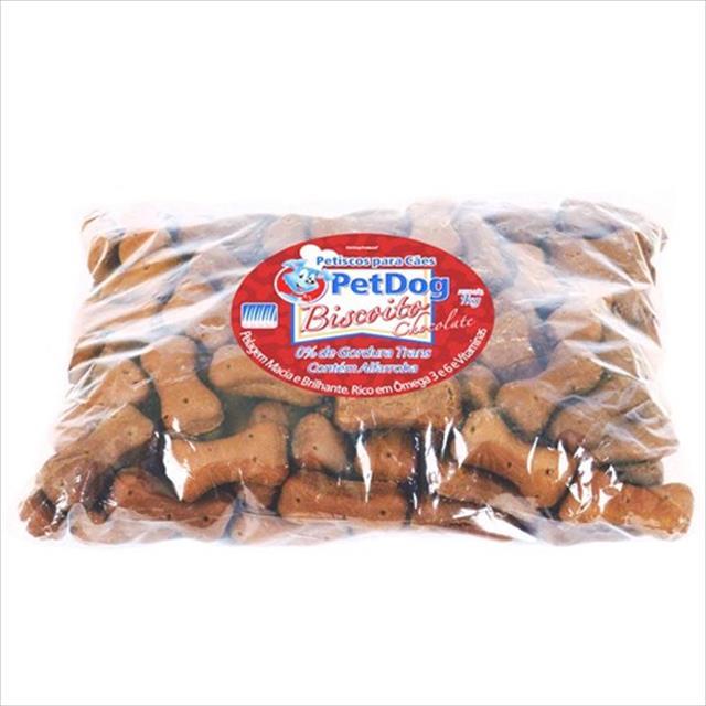 refil de biscoito pet dog sabor chocolate - 1 kg