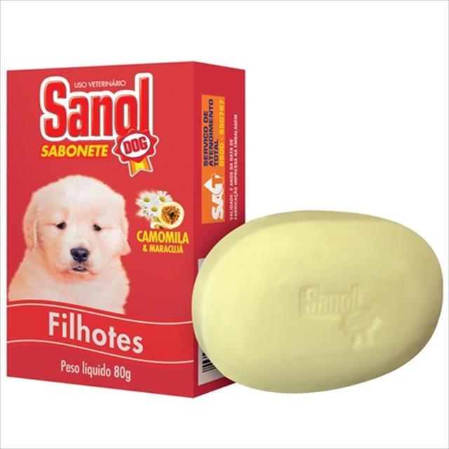 sabonete sanol dog filhotes - 80gr