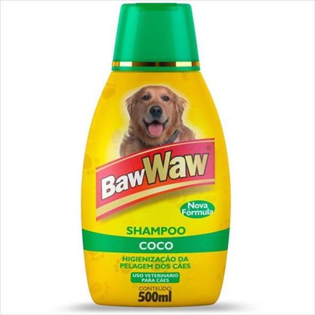 shampoo baw waw para cães côco - 500 ml