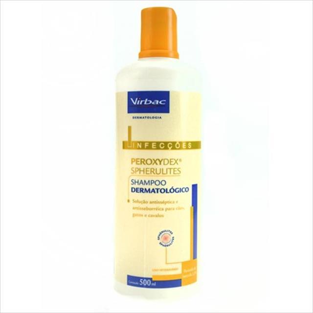shampoo dermatólogico virbac peroxydex spherulites - 500 ml