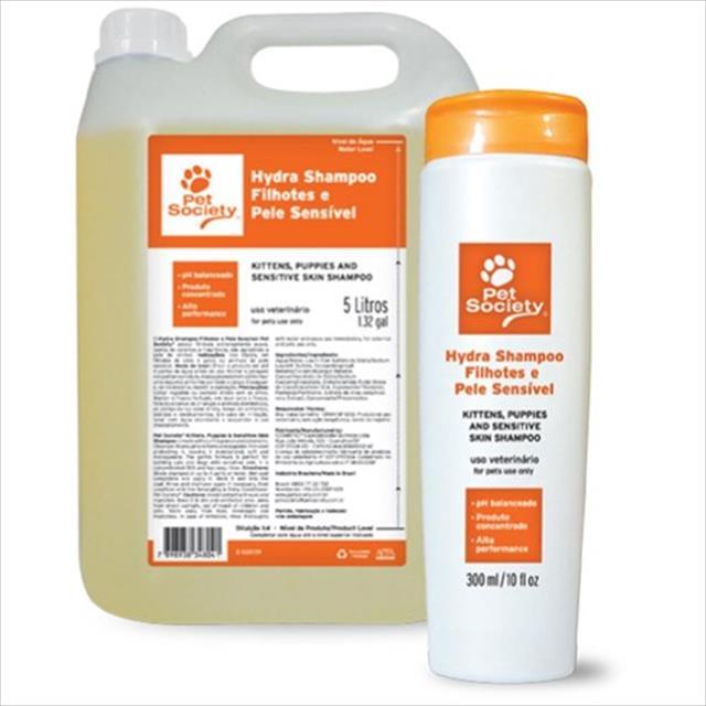 shampoo filhotes e pele sensível pet society shampoo para filhotes e pele sensível pet society - 5 litros
