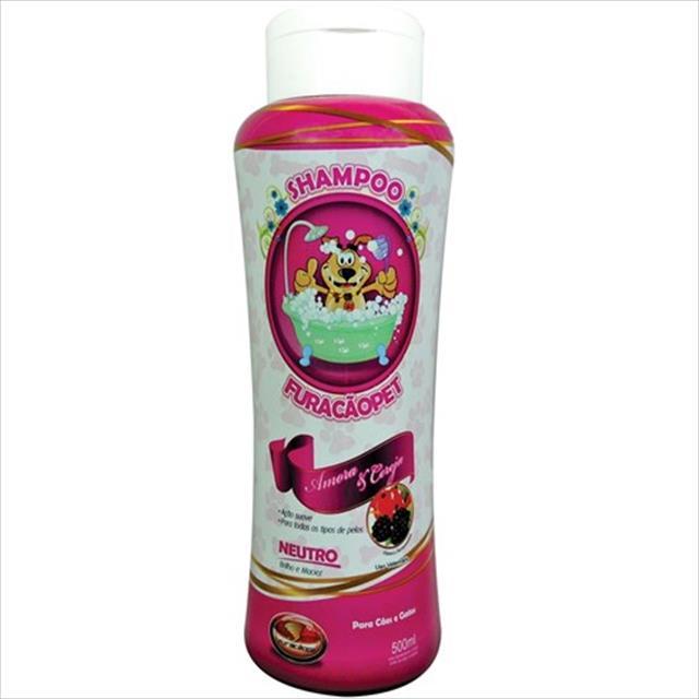 shampoo furacão pet amora e cereja neutro - 500ml