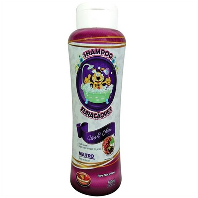 shampoo furacão pet uva e açai neutro - 500ml