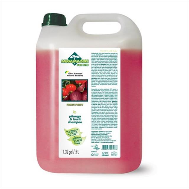 shampoo megamazon pitanga e buriti - 5 litros