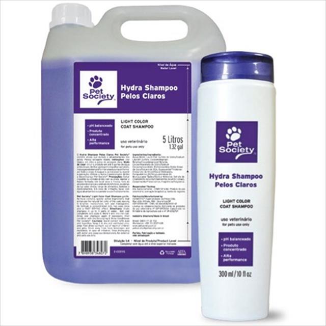 shampoo pet society para cães e gatos - 5 litros shampoo pet society de 5 litros para cães e gatos - pelos claros
