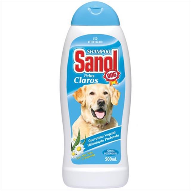shampoo sanol dog pelos claros - 500ml