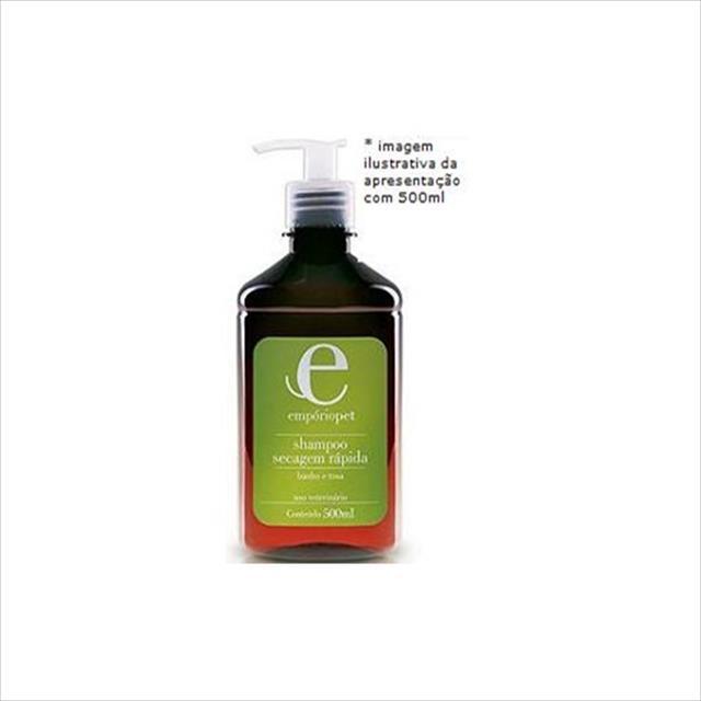 shampoo secagem rápida emporio pet shampoo secagem rápida - 500ml