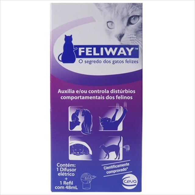 difusor elétrico ceva feliway + refil para gatos