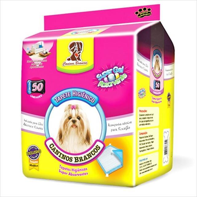 tapete higiênico american pets caninos brancos para cães - 50 unidades