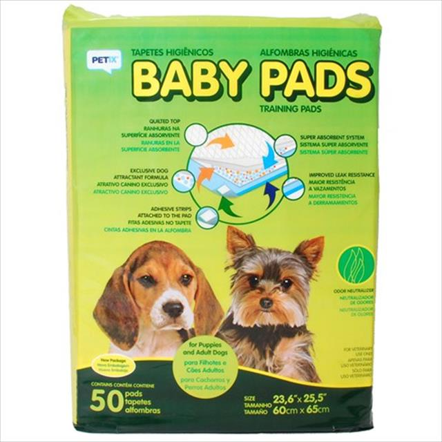 tapete higiênico baby pads - petix tapete higiênico baby pads - 50 unidades
