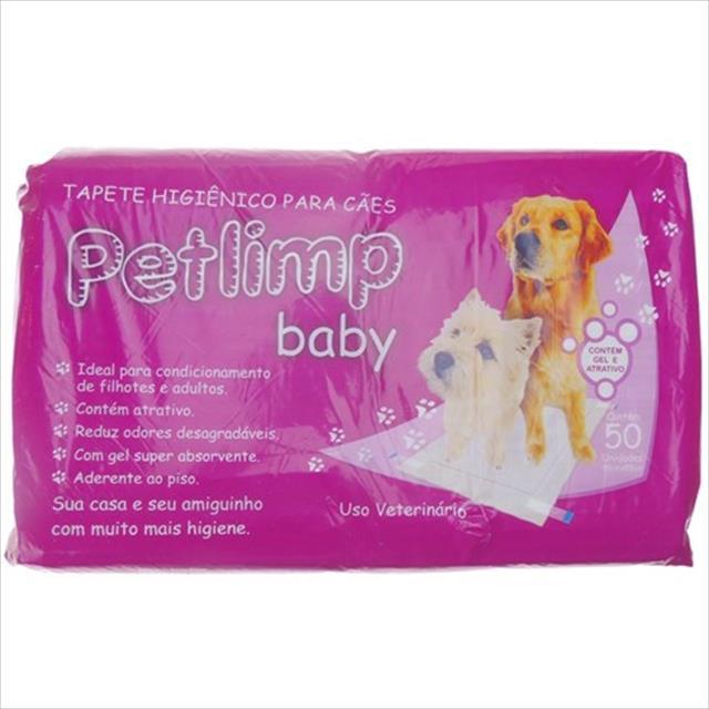 tapete higiênico petlimp arraynes baby - 50 unidades