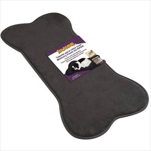 tapete jambo nasa para cães - cinza tapete jambo nasa cor cinza para cães - grande