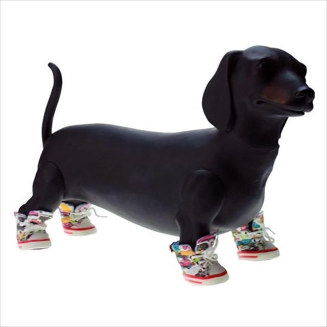 tênis chalesco para cães - branco tênis chalesco para cães branco - tam 4