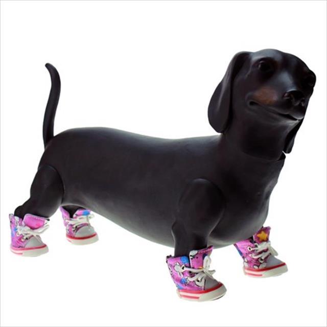 tênis chalesco para cães - rosa tênis chalesco para cães rosa - tam 4
