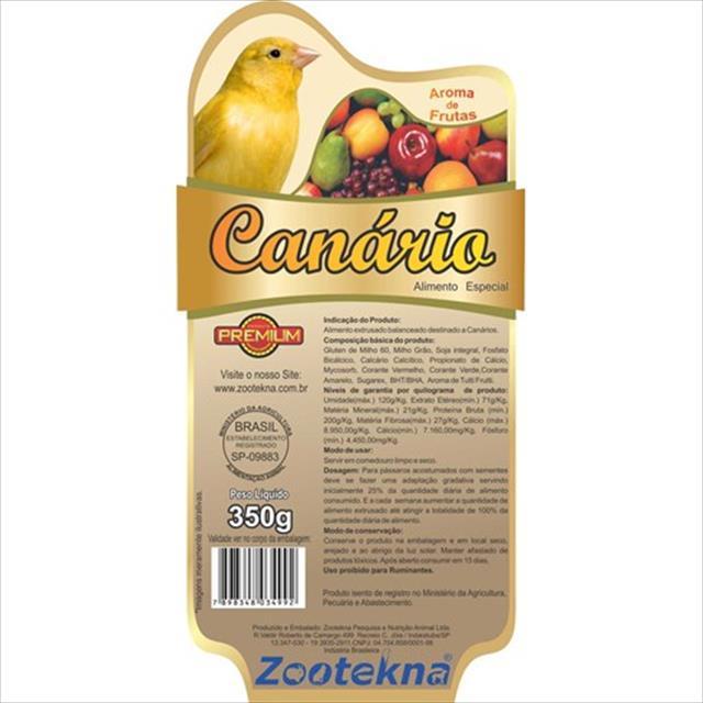 alimento extrusado canário zootekna - 350gr