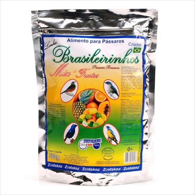 alimento zootekna brasileirinho mix de frutas 500g