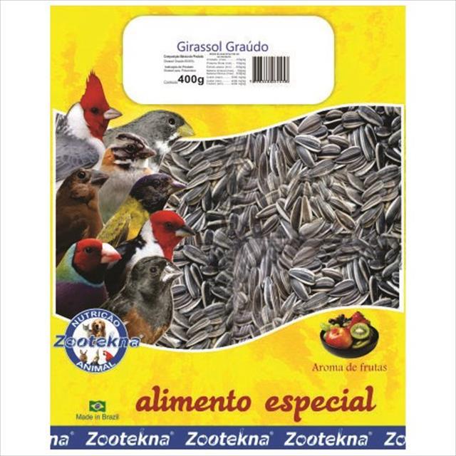 alimento zootekna girassol graúdo - 400gr