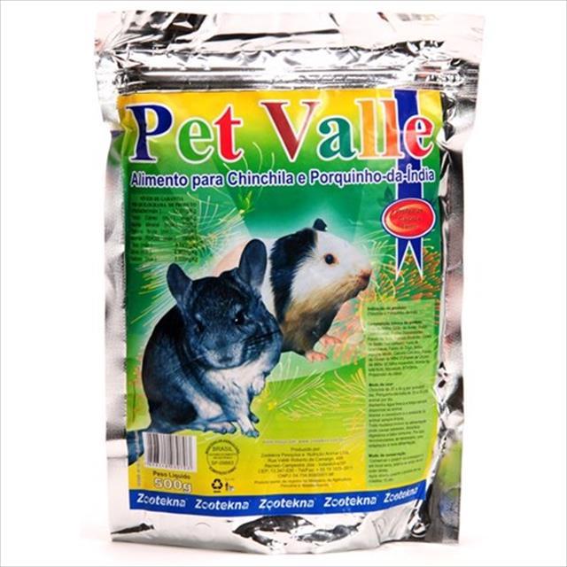 alimento zootekna pet valle para chinchilas e porquinhos da índia - 500gr