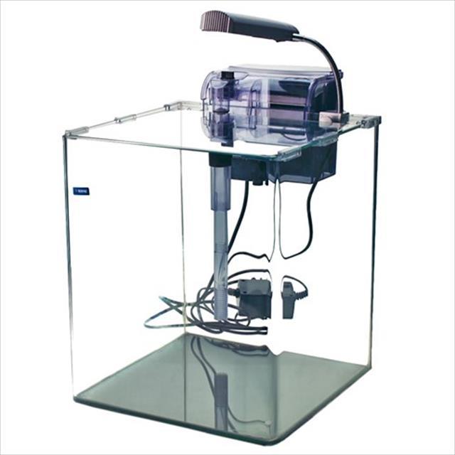 aquário rehau cubo crystal cc2025 com filtro e luminária - 10 litros aquário rehau cubo crystal cc2025 com filtro e luminária - 220v