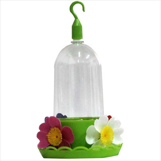 bebedouro mr pet beija-flor 4 flores com bandeja - 250ml