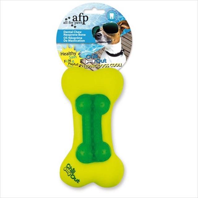 brinquedo afp chill out dental chew neonprime bone - verde