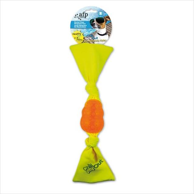 brinquedo afp chill out dental chew neonprime toss - laranja