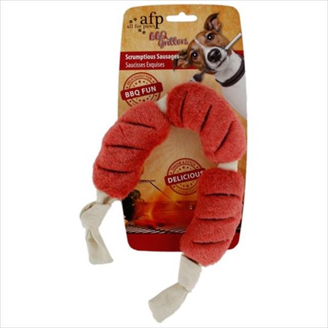 brinquedo afp pet salsichas de pelúcia bbq scrumptious sausages - grande