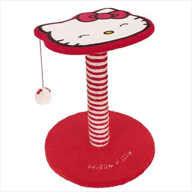brinquedo arranhador hello kitty poste