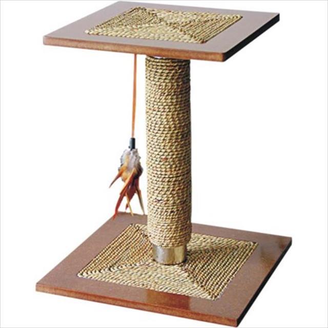 brinquedo arranhador jambo aço escovado com 2 níveis