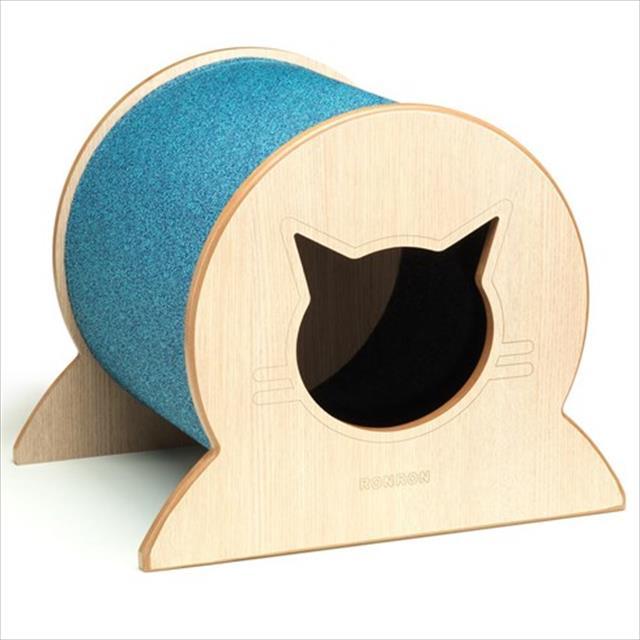 brinquedo arranhador túnel casinha - azul