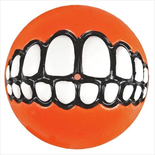 brinquedo bola rogz sorriso grinz - laranja brinquedo bola rogz sorriso grinz laranja - pequeno