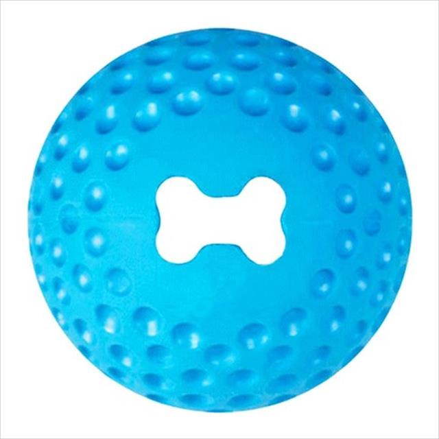 brinquedo bola rogz treat gumz - azul brinquedo bola rogz treat gumz azul - médio