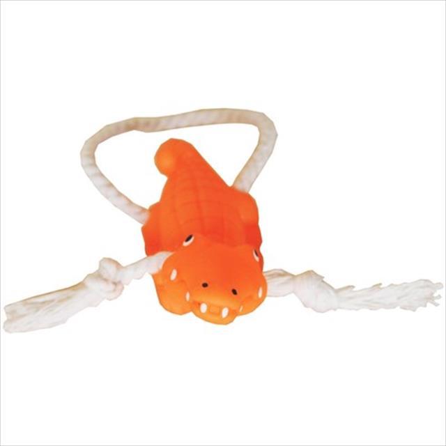 brinquedo de vinil jacarezinho com corda vb pets