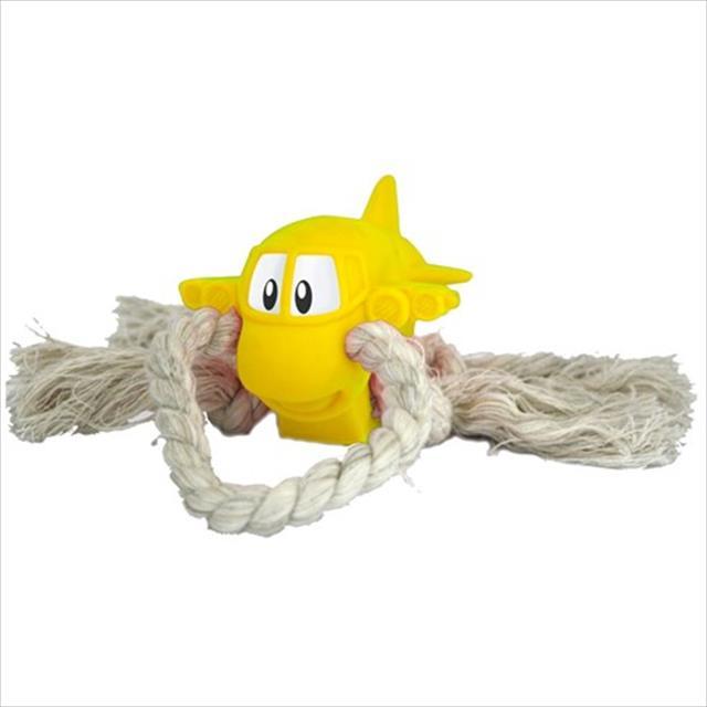 brinquedo de vinil jatinho com corda vb pets