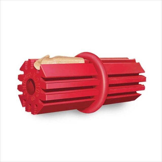brinquedo interativo kong puppy teething stick com dispenser para ração ou petisco - vermelho brinquedo interativo kong puppy teething stick kp23 com dispenser para ração ou petisco - médio