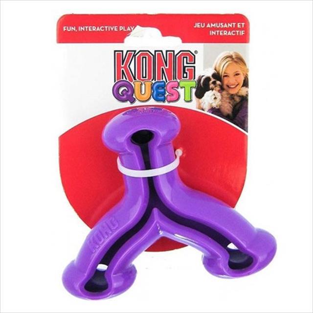brinquedo interativo kong quest wishbone com dispenser para petisco - roxo brinquedo interativo kong quest wishbone pe34 com dispenser para petisco roxo - pequeno
