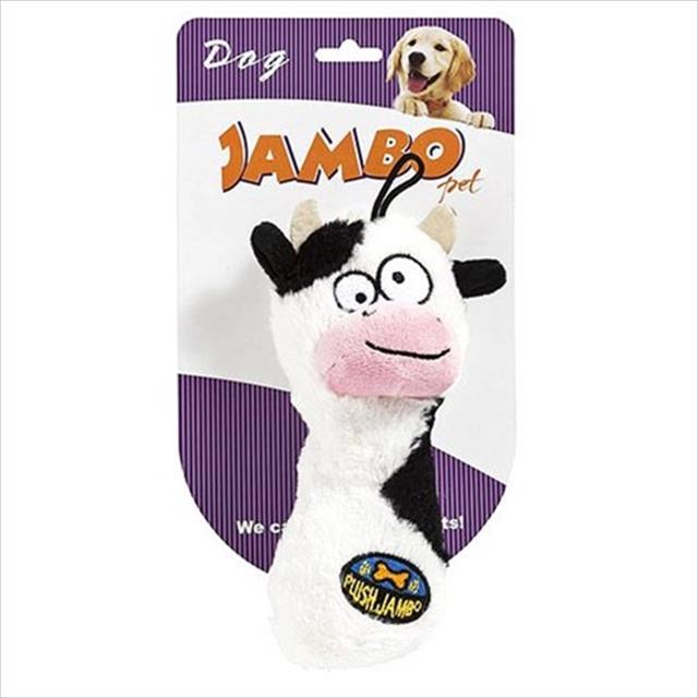 brinquedo jambo mordedor de pelúcia plush vaca