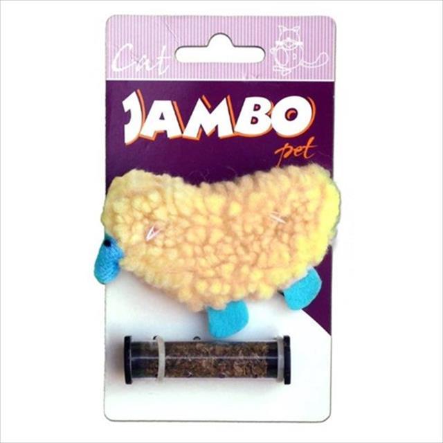 brinquedo jambo ovelha refilable com catnip
