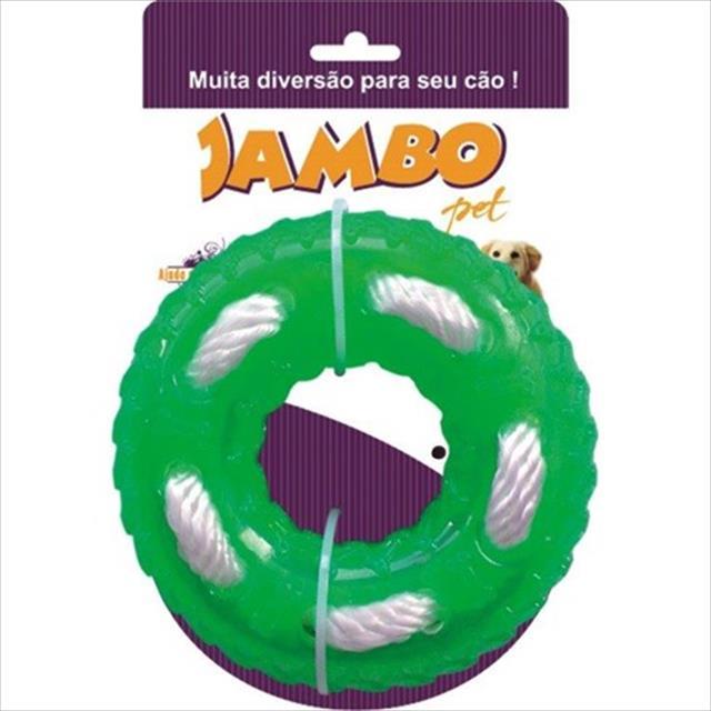 brinquedo jambo tpr rope ring mint - verde