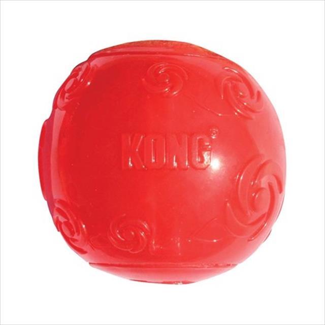 brinquedo kong bola squeezz ball - vermelho brinquedo kong bola squeezz ball psb2 vermelho - médio